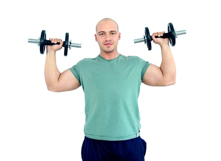 young caucasian man with muscles working out Stock Photo - 12131016