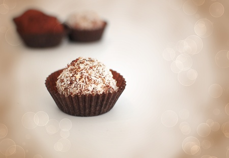 Close up of chocolate truffle Stock Photo