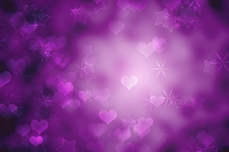 Purple romantic background Stock Photo - 12131107