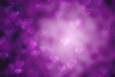 estrellas moradas: Rom�ntica de fondo p�rpura