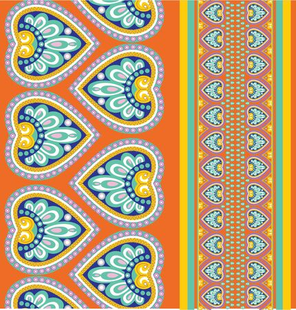 motive: Seamless colorful pattern background with ethno motives