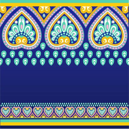ethno: Seamless pattern background with ethno motives Illustration