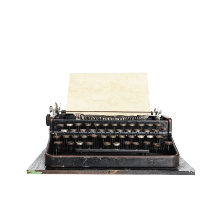 Vintage typewriterisolated on white background