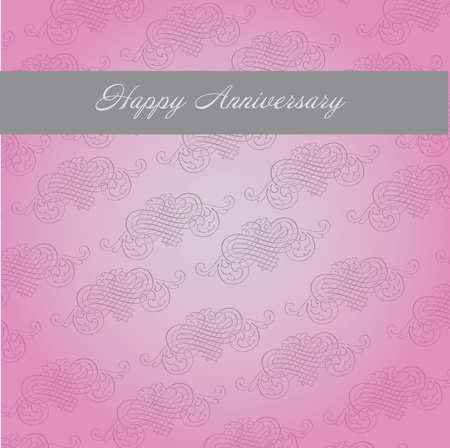 Simple template for  anniversary card