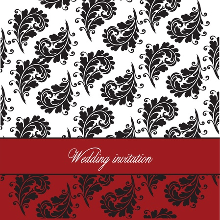 Simple template for wedding invitation, anniversary card or birthday card Vector