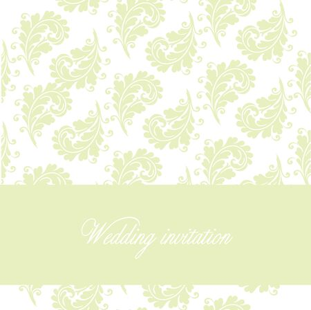 Simple template for wedding invitation, anniversary card or birthday card