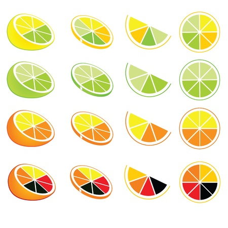 grapefruit juice: lemon and orange logos and icons