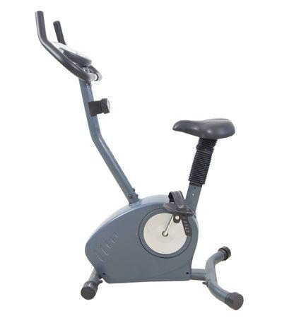 exersice: Stationary exersice bike isolated on white Stock Photo