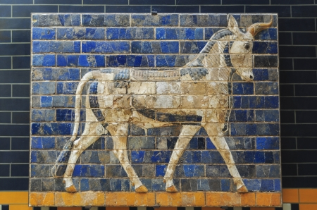 babylonian: Puerta de Ishtar Foto de archivo