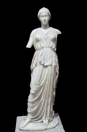 diosa griega: Roman estatua de Atenea - la diosa de la sabidur�a, las habilidades y del siglo quinto warefare, m�rmol
