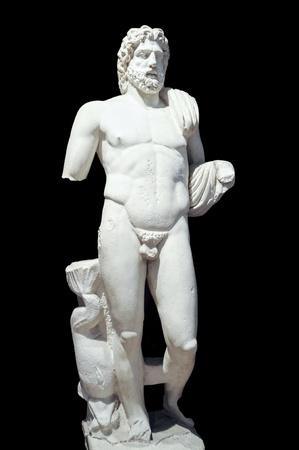 poseidon: Marble statue of Poseidon - Greek god of sea