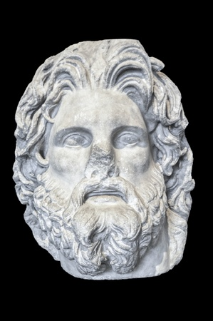 3rd century: Head of Greek god Zeus form marble - 3rd - 2nd century BC, Troy Stock Photo