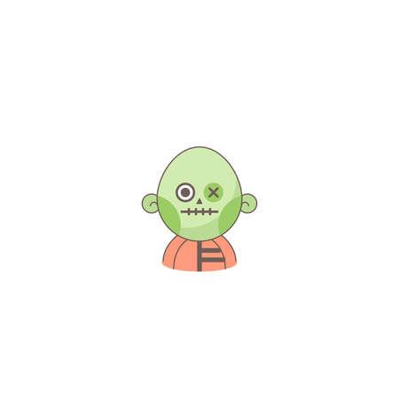 Halloween holiday  icon, Zombie icon