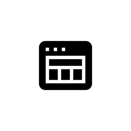 Layout icon. Web page sign. Web grid design
