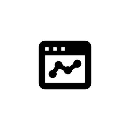 Online finance icon. Web page sign. Web chart symbol