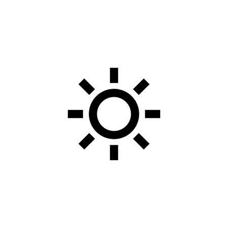 Sun icon. Weather sign Ilustrace