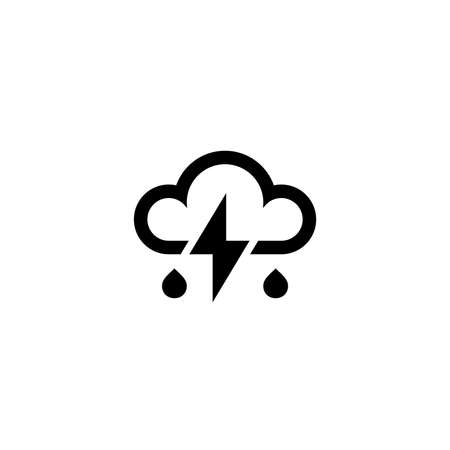 Cloud and lightning icon. Weather sign 向量圖像