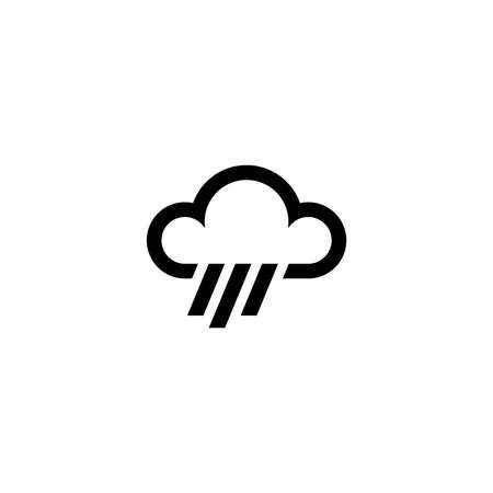 Cloud and rain icon. Weather sign
