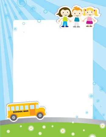 Plantilla de fondo para el cartel escuela Ilustración de vector