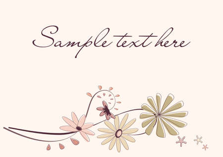 Floral background in the beige Stock Vector - 17390659