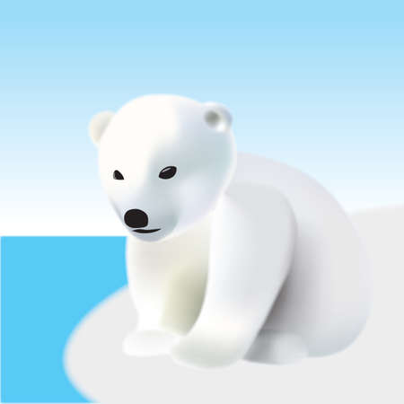 Polar bear youngling on the iceberg Stock Vector - 17390666