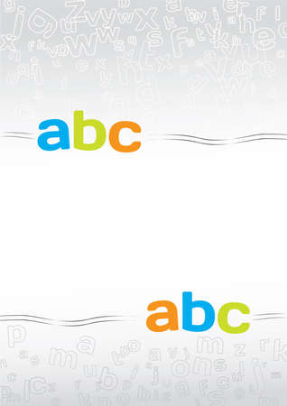 gray background with letters Stock Vector - 17692012