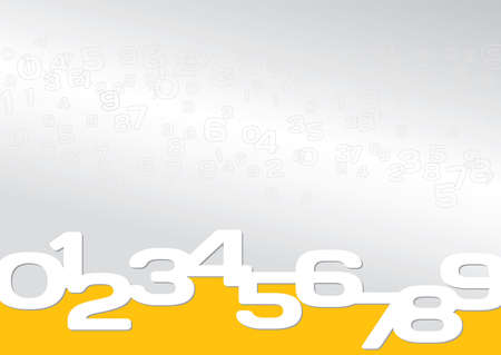 Background gray, orange, numeric, simple