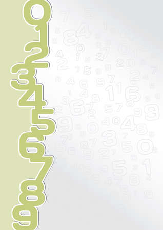 Numeric background in green and gray color Stock Vector - 18089585