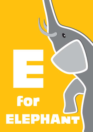 english language: E for the Elephant, an animal alphabet for the children