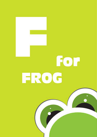 english language: F for the Frog, alphabet for the children