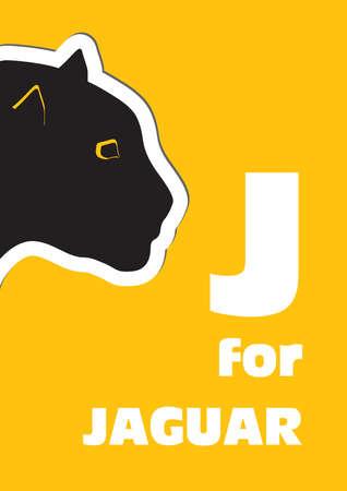 J for the Jaguar, an animal alphabet for the kids Illustration