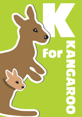 kangaroo: K for the Kangaroo, an animal alphabet for the kids
