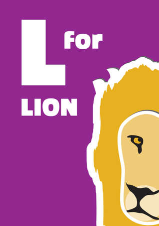 english language: L for the Lion, an animal alphabet for the kids