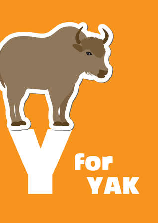 Y for the Yak, an animal alphabet for the kids Vector