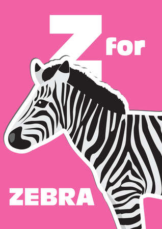 english language: Z for the Zebra, an animal alphabet for the kids