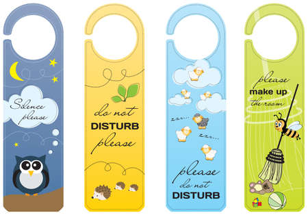 Hanging signs for children and pet friendly hotels
