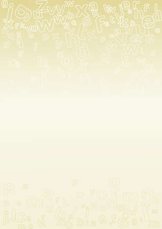 The gold background with alphabet letters