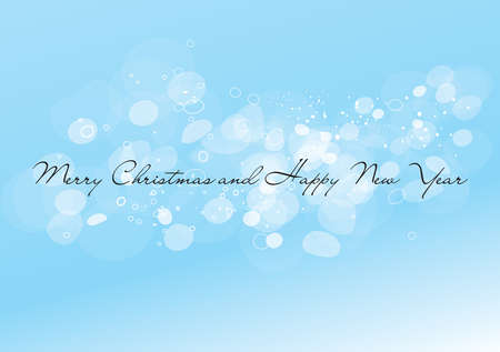 Snowing glittering Merry Christmas blue background