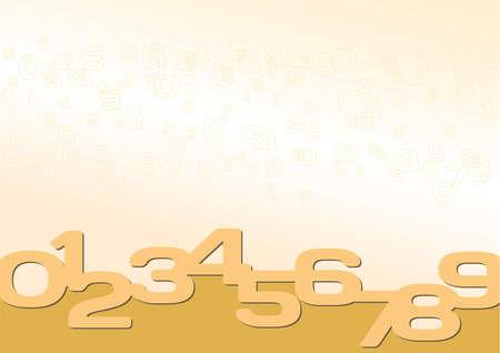 numeric: Background yellow, gold, numeric  Illustration