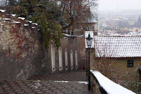 New Castle Steps.  Takes you up to Prague Castle.