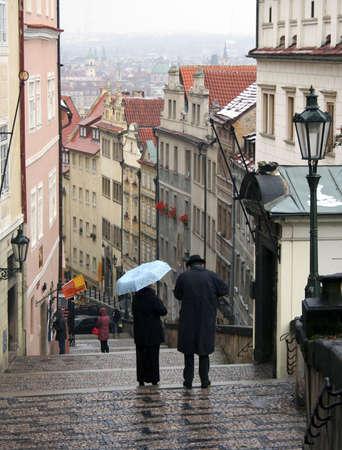 New Castle Steps in Prague, CZK