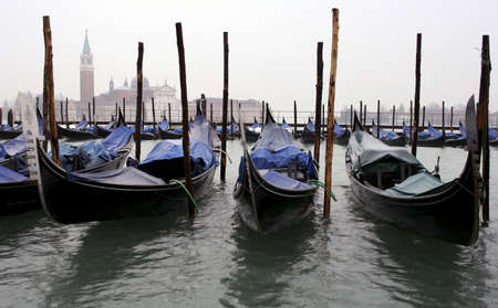 Venice Gondolas Stock Photo
