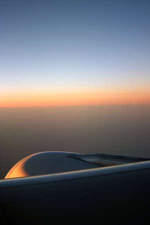 Sunrise over Aeroplane Engine