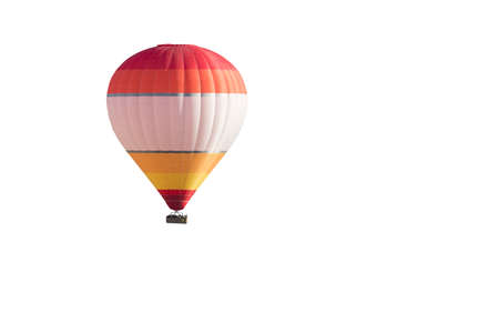 yellow orange and red hot air balloon on a white background photo