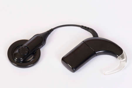 Cochlear implant device for deaf or hearing impaired people photo
