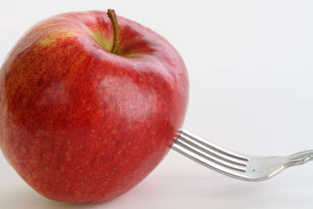 Fork in an Apple