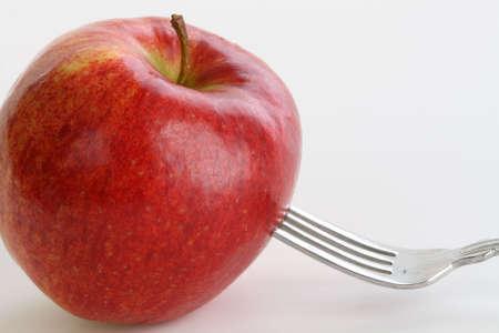 Splitsing van een Apple Stockfoto