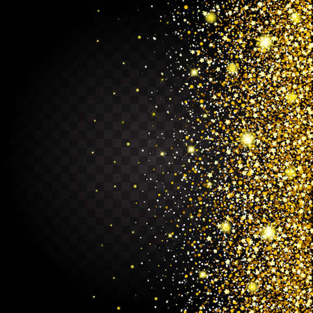 luster: Effect of flying from the side of the gold luster luxury design rich background. Dark background. Stardust spark the explosion on a transparent background. Luxury golden texture.