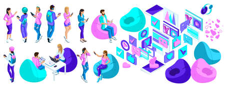 Isometry is a set of characters, people are teenagers, they can entertain themselves, communicate through social networks, use modern gadgets.