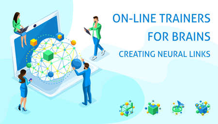 Isometric online program concept for creating neural connections and improving brain function, concentration of attention, development of thinking.